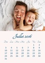 Calendar July 2016 with customizable picture