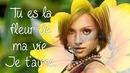 Fleur jaune avec texte