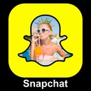 Foto i snapchat logo med customizable text