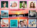 10 fotos quadradas + fundo personalizável