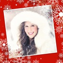 Weihnachten und Schneeflocken