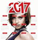 Календарь на 2017 год на английском языке