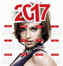 2017 calendar in english