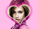 Pink background heart