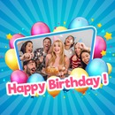 Happy birthday with photo and customizable text