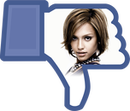 Transparent customizable Facebook dislike button PNG