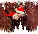 Bingkai dekoratif untuk musim dingin