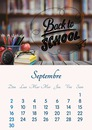September 2018 calendar printable in A4