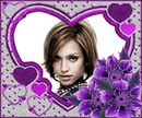 Heart ♥ Purple flowers