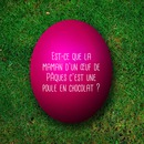 Text on an Easter egg