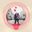 Cercles et coeur rouges