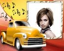 Yellow van Musical notes