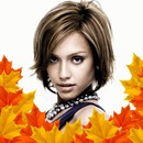 Add autumn leaves down your picture