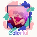 Coups de pinceaux multicolores