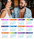Calendar year 2018 with customizable photo