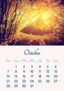 Kalendar listopada 2018 ispisiva u A4 formatu