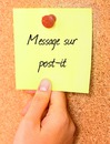 Message sur post-it