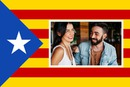 Drapeau Catalan avec photo personnalisable