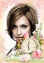 Róże Kwiaty Zegar