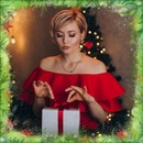 Fenyő ágak karácsonyi csillag