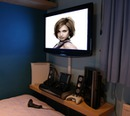 Home cinema scene Flat screen
