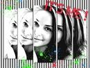 Φωτογραφία κομμένα μαύρα και λευκά στίγματα