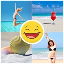 Collage 4 bilder med passelig smiley