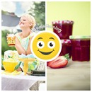 Collage 2 bilder med tekst og smiley