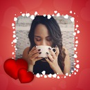 Corações brancos, corações rosa e corações vermelhos