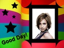 Flerfarvet ramme Good Day Stars
