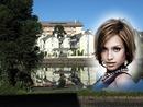 Case di paesaggio lungo il fiume