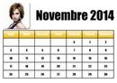 Календарь на ноябрь 2014 года на французском языке