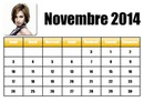 Kalender november 2014 in het Frans