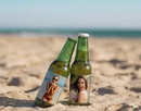Bieren op het strand