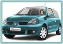 Sejas Clio automašīnas vadītājs