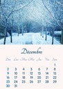 Kalender december 2018 printbaar in A4-formaat