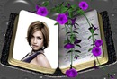 Book Purple flowers Scene
