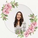 Ghirlanda di fiori rosa