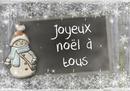 Slate zīmulis Ziemassvētku sniegavīrs