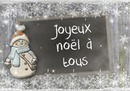 Lápiz sobre pizarra Navidad Muñeco de nieve