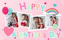 Valentinstag-Collage