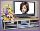 LCD Flat screen Bunch of flowers Scene