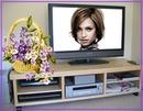 Σκηνή επίπεδη οθόνη LCD Μπουκέτο με λουλούδια