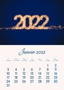 Monthly calendar with year, month and customizable photo
