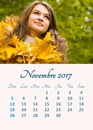 November 2017 calendar with personal picture (multilanguage)