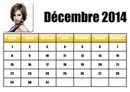 Calendar December 2014 in French