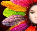 Rostro en una flor