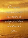 Texte sur photo floue