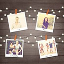4 polaroids og festoon