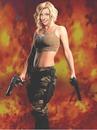 Femme Fatale Face Tűz